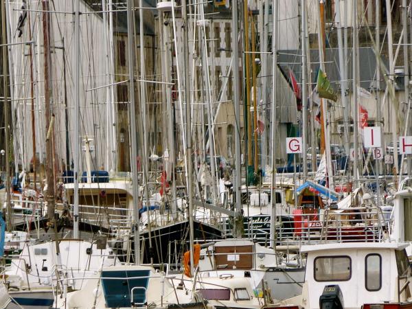 Port de Morlaix, les mâts